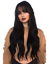 cheap -Remy Human Hair Lace Front Wig Deep Parting style Brazilian Hair Curly Natural Wig 130% 150% 180% Density with Baby Hair Adjustable Heat Resistant Thick with Clip Women's Medium Length One Pack