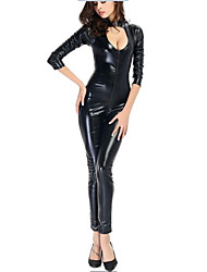 cheap -Movie / TV Theme Costumes Cosplay Costume Women's Halloween Carnival Festival / Holiday Polyurethane Leather Black Carnival Costumes