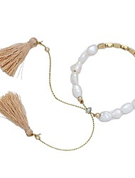 cheap -Women's Bead Bracelet Vintage Bracelet Earrings / Bracelet Layered Blessed Classic Tassel Vintage Fashion Elegant Cord Bracelet Jewelry Gold For Daily School Street Holiday Festival / Imitation Pearl