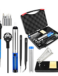 cheap -Ten In One Electric Iron Set Repair Welding 60W Heat Adjustable Temperature Soldering Iron Soldering Iron Toolbox