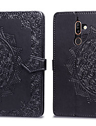 cheap -Case For Nokia Nokia 7 Plus Card Holder / Flip Full Body Cases Solid Colored Hard PU Leather for Nokia 7 Plus