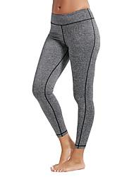 abordables -Femme Pantalon de yoga Couleur unie Course / Running Fitness Entraînement de gym Collants Tenues de Sport Séchage rapide Butt Lift Contrôle du Ventre Power Flex Elastique