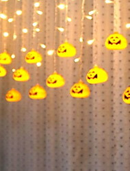 cheap -3.3m Halloween Lights Pumpkin Lights 96 LED Halloween Decorations Indoor Outdoor String Lights for Patio Mantle Yard