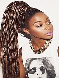 cheap -Faux Locs Dreadlocks Senegalese Twist Box Braids Natural Color Synthetic Hair 30 inch Braiding Hair 3 Pack Ombre Hair