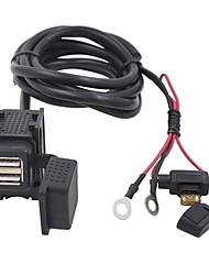 cheap -Double USB Adapter Waterproof Motorcycle Charger for BMW Suzuki