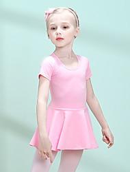 cheap -Kids' Dancewear / Ballet Dresses Girls' Training Cotton / Elastane Split Joint Short Sleeve Dress