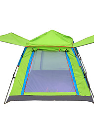 cheap -4 person Screen Tent Outdoor Windproof Rain Waterproof Breathability Single Layered Pop Up Camping Tent 1000-1500 mm for Camping / Hiking / Caving Traveling Oxford Cloth 200*200*138 cm