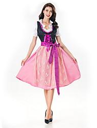cheap -Oktoberfest Beer Dirndl Trachtenkleider Women's Dress Bavarian Costume Blushing Pink