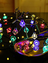 cheap -4m String Lights 20 LEDs Multi Color Solar / Decorative Solar Powered 1 set