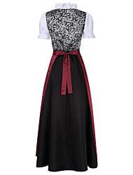 cheap -Oktoberfest Beer Dirndl Trachtenkleider Women's Dress Bavarian Costume Brown Blushing Pink