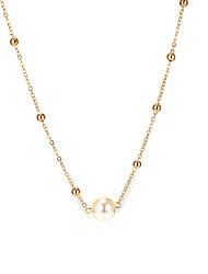 cheap -Women's Pendant Necklace Necklace Classic Simple Classic Vintage European Pearl Chrome Gold 38.5 cm Necklace Jewelry 1pc For Gift Daily Holiday Street Work