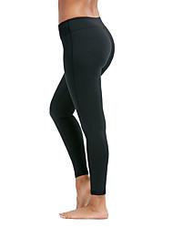 abordables -Femme Pantalon de yoga Couleur unie Course / Running Fitness Entraînement de gym Collants Tenues de Sport Evacuation de l'humidité Séchage rapide Contrôle du Ventre Power Flex Haute élasticité Slim