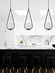 cheap -1-Light 19 cm Adjustable Pendant Light Metal Glass Cone Electroplated Contemporary / Globe 110-120V / 220-240V