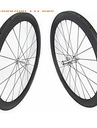 cheap -FARSPORTS 700CC Wheelsets Cycling 25 mm Road Bike Carbon Fiber Tubular 20/24 Spokes 60 mm