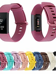 cheap -Watch Band for Fitbit Charge 3 Fitbit Classic Buckle Silicone Wrist Strap