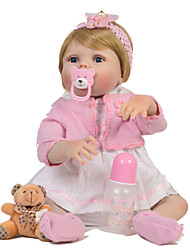 cheap -Reborn Doll Baby Girl 22 inch Silicone - Gift Kids / Teen Lovely Kid's Unisex Toy Gift