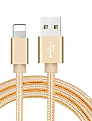 cheap -Lightning USB Cable Adapter Braided Cable For iPhone 100 cm For Nylon