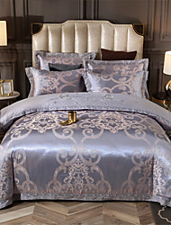 cheap -Duvet Cover Sets Luxury / Contemporary Cotton Jacquard / Printed 4 PieceBedding Sets