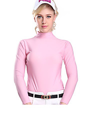 cheap -Women's Compression Clothing Long Sleeve Golf Workout Athleisure Outdoor Summer / Modal / High Elasticity / UV Resistant / Breathable / Solid Color
