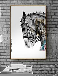 cheap -Framed Art Print Framed Canvas - Animals 3D PS PVC Photo Wall Art