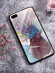 cheap -Case For iPhone X XS Max XR XS Back Case Soft Cover TPU Fashion Fashion Illustration style roaring wolf Soft TPU for iPhone5 5s SE 6 6P 6S SP 7 7P 8 8P