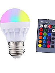 cheap -3W E27 LED RGB LED Light Bulb with IR Remote Control Pop Lamp Color Changing AC 85-265V 16 colors changing LED Bulbs Tubes