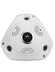 cheap -3MP/ with power supply Nine security scene 360 degree VRCAM wireless wifi HD 960P network camera wide angle fisheye indoor monitoring