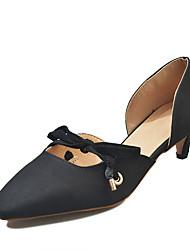 cheap -Women's Heels Kitten Heel Bowknot PU Casual Summer Black / Yellow / Light Pink / Daily
