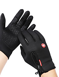 cheap -Winter Bike Gloves / Cycling Gloves Touch Gloves Mountain Bike MTB Road Bike Cycling Touch Screen Waterproof Windproof Warm Full Finger Gloves Sports Gloves Fleece Silicone Gel Black Purple Fuchsia