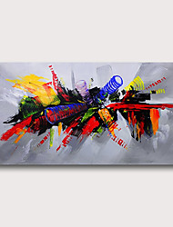 cheap -Oil Painting Hand Painted - Abstract Abstract Landscape Comtemporary Modern Stretched Canvas