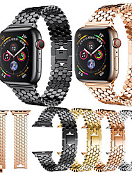 cheap -Smart Watch Band for Apple iWatch 1 pcs Modern Buckle Stainless Steel Replacement  Wrist Strap for Apple Watch Series SE / 6/5/4/3/2/1 Apple Watch Series 4 38mm 40mm 42mm 44mm