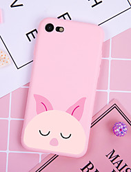 cheap -Case For iPhone XS Max XR XS X Back Case Soft Cover TPU Stylish minimalist pink pig Soft TPU for iPhone 8 Plus 7 Plus 7 6 Plus 6 8