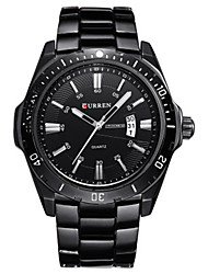 cheap -CURREN Men's Sport Watch Japanese Quartz Casual Water Resistant / Waterproof Black / White Analog - Black / White White Black / Calendar / date / day