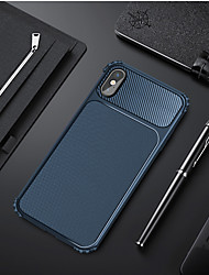 cheap -Case For Apple iPhone XS / iPhone XR / iPhone XS Max Shockproof Back Cover Solid Colored Hard Carbon Fiber