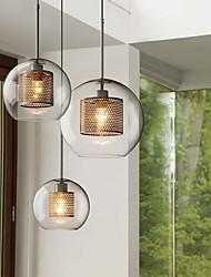 cheap -25 cm Pendant Lantern Design Pendant Light Glass Globe Electroplated LED Modern Nordic Style 220-240V