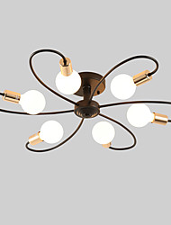 cheap -JSGYlights 6-Light 82 cm New Design Flush Mount Lights Metal Sputnik Painted Finishes Country / Modern 110-120V / 220-240V / E26 / E27