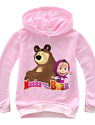cheap -Kids Toddler Girls' Basic Print Print Long Sleeve Cotton Hoodie & Sweatshirt Blushing Pink