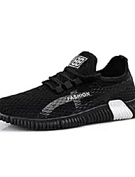 cheap -Men's Comfort Shoes Mesh Summer Casual Athletic Shoes Running Shoes Breathable Black and White / Black / Red