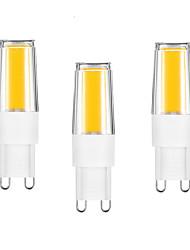 cheap -3pcs LED G9 Bulb 220V COB LED 3 W Replace 35W Halogen lamp Chandelier Living Room Home Decoration Children Room Warm White / White