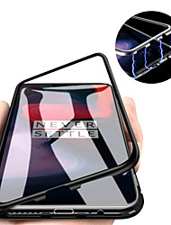 cheap -Case For OnePlus OnePlus 6 / One Plus 6T / One Plus 7 Magnetic Back Cover Solid Colored Hard Tempered Glass