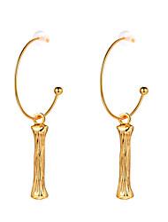 cheap -Women's Drop Earrings Hoop Earrings Letter Simple Trendy Fashion 18K Gold Plated Earrings Jewelry Gold For Graduation Gift Daily Festival 1 Pair