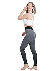 cheap -Women's High Waist Yoga Pants Leggings Butt Lift Color Gradient Black Daffodil Fuchsia Running Fitness Sports Activewear Micro-elastic Slim