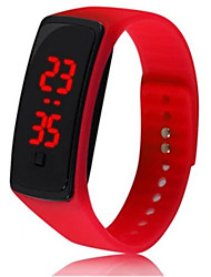 cheap -Couple's Sport Watch Digital Rubber Black / White / Red No LCD Digital Fashion - Black Red Ivory One Year Battery Life
