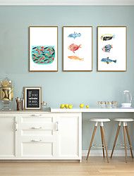 cheap -Framed Art Print Framed Set - Animals Cartoon PS Illustration Wall Art