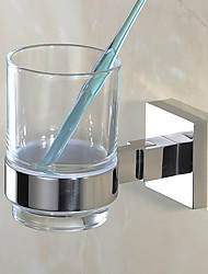cheap -Toothbrush Holder New Design / Creative Contemporary / Modern Stainless Steel 1pc - Bathroom Wall Mounted