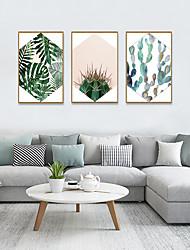 cheap -Framed Art Print Framed Set - Abstract Floral / Botanical PS Illustration Wall Art