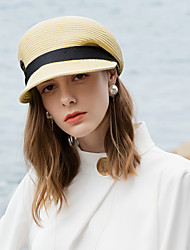 abordables -Polyester Chapeaux de paille avec Lanière Tressée 1pc Décontracté / Usage quotidien Casque