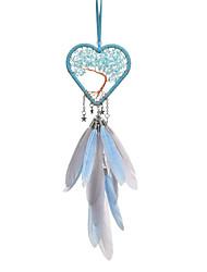 Недорогие -Ловец снов ручной работы с пером в форме сердца