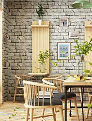 cheap -Wallpaper Plastic & Metal Wall Covering - Adhesive required Wood Grain