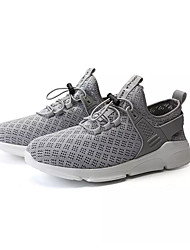 cheap -Men's Comfort Shoes Mesh Summer Casual Athletic Shoes Walking Shoes Breathable Black / White / Gray
